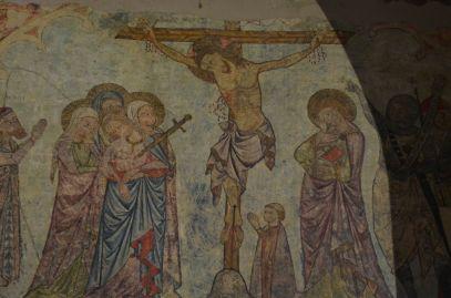 Pinturas murales 'Calvario y apostolado' en la capilla de Santa Margarita (s.XIV) en la Seu Vella de Lleida