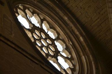 Detalle de la roseta de la iglesia