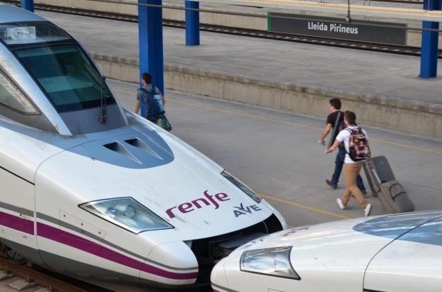 Ave en la estación de Lleida-Pirineus. Cecília López