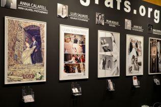 Fotógrafos de Lleida asociados en un estand conjunto en el Saló De Nuvis de Lleida. Cecília López