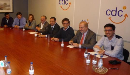 Joan Ramon Zaballos acompañado de Toni Postius, comunicó el pasado 18 de noviembre que no encabezará la lista en las elecciones de 2015- Foto: CiU