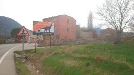 Indicación del Museu Limit K-T en la entrada de Coll de Nargó. Cecília López