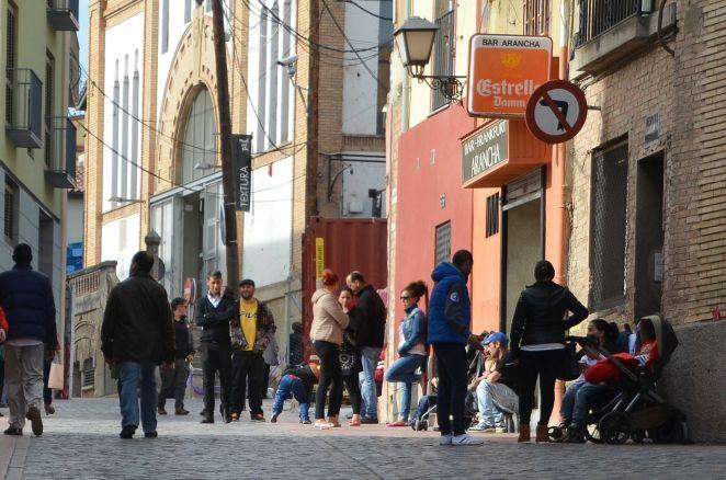 Los vecinos del barrio han seguido toda la evolución de la apertura del Mercat del Pla. Cecília López.