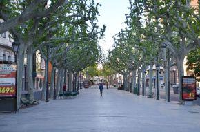 Imagen de la Rambla Ferran de Lleida. Cecília López