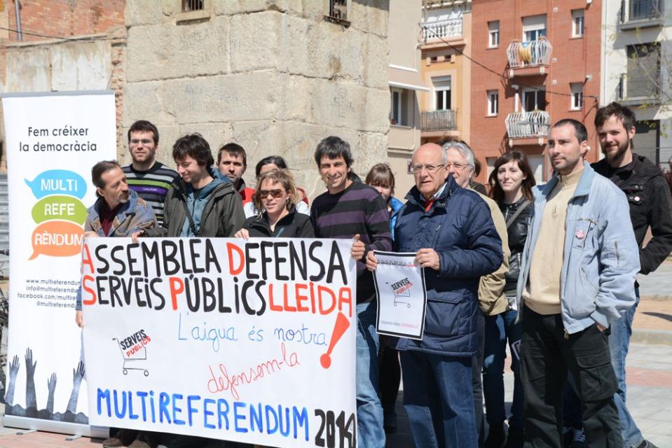 Acto de presentación del referendum en Lleida. Foto de ADSP