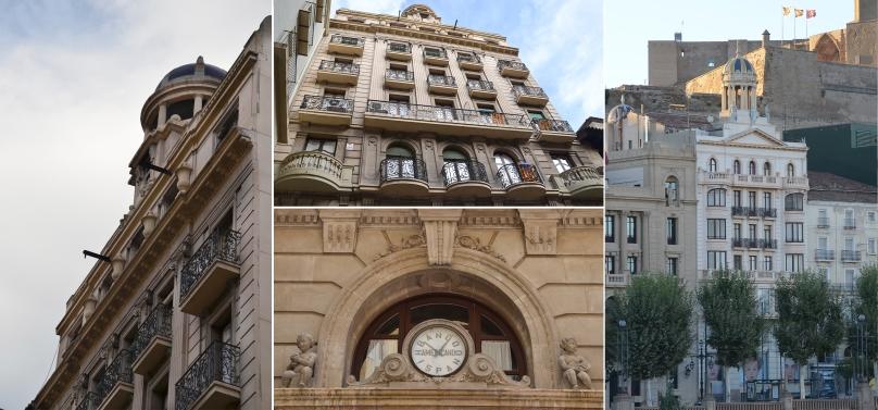 Fachadas del edificio de la Antigua Banca Llorenç, por plaza de la Paeria y avenida Blondel. Cecília López