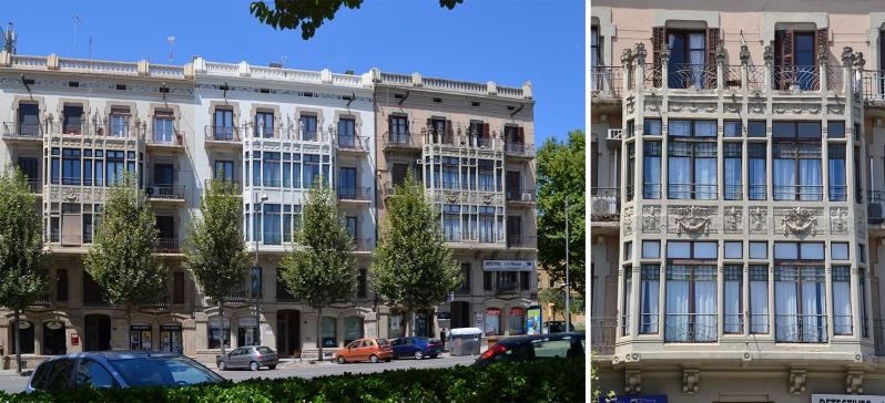 Las casas Balasch, de Morera i Gatell destacan por sus tribunas modernistas. Cecília López