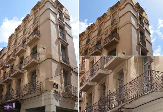 Los motivos florales y geométricos destacan en la casa Bergós. Cecília López