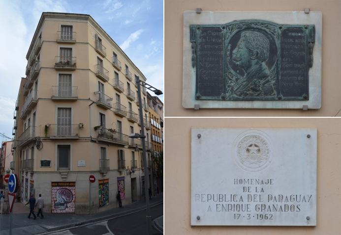 La casa natal de Enric Granados delante del Mercat del Pla. Cecília López