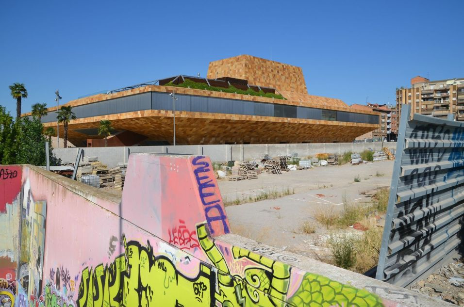 El solar que se vendió por 49,5 millones de euros y que sirvió para pagar la edificación de La Llotja de Lleida. Cecília López