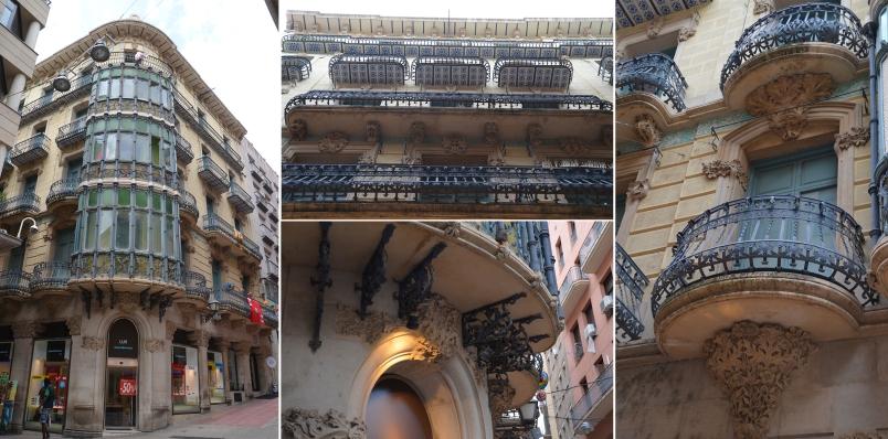 Detalles de la casa Magí Llorens de Lleida. Cecília López
