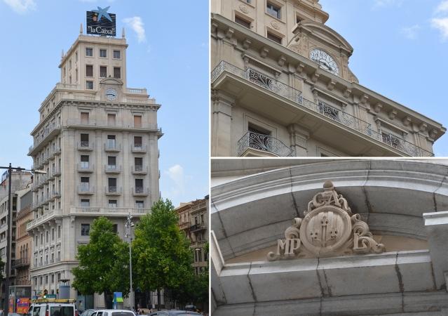 Detalles del gran edificio Monte Pío de Lleida. Cecília López