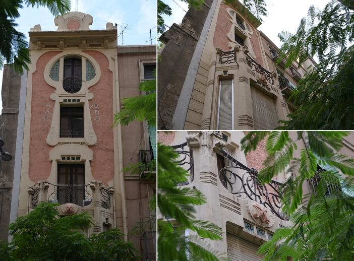 La casa Morera inspirada en una lira, en la avenida de Blondel. Cecília López